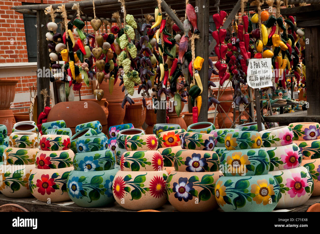 Pottery Store In Old Town San Diego Stock Photo Alamy