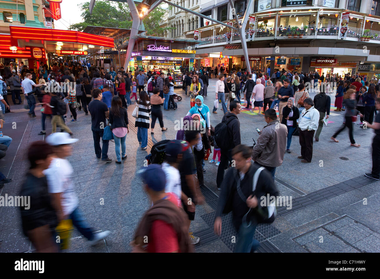 Queen Street Mall, Brisbane - Stock Image