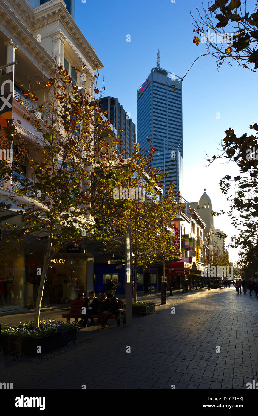 Perth shopping mall Australia - Stock Image