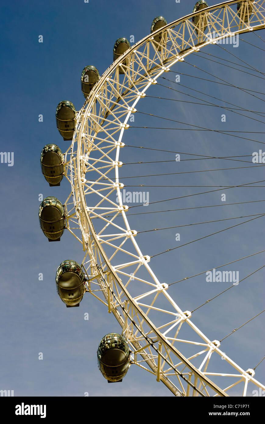 Capsule of the London eye - London, England - Stock Image