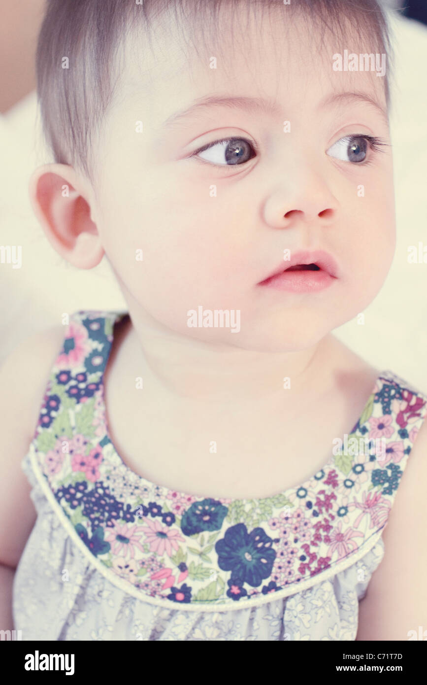 Baby girl, portrait - Stock Image
