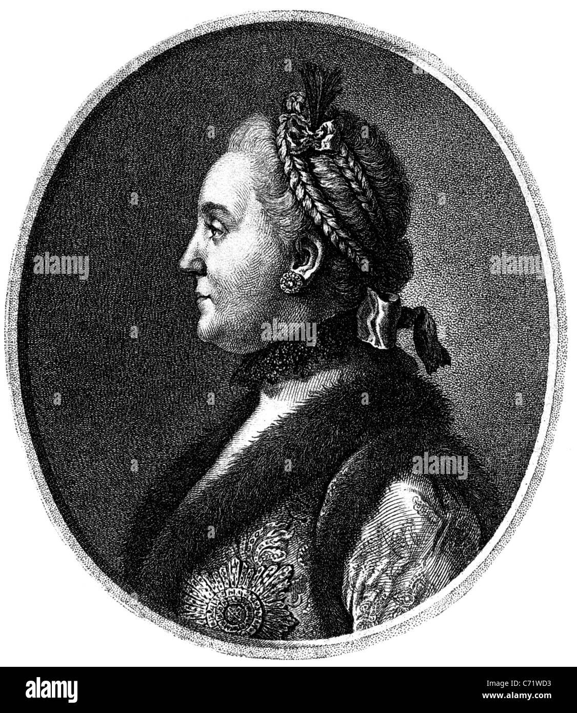 CATHERINE THE GREAT (1729-1796) Empress of Russia - Stock Image