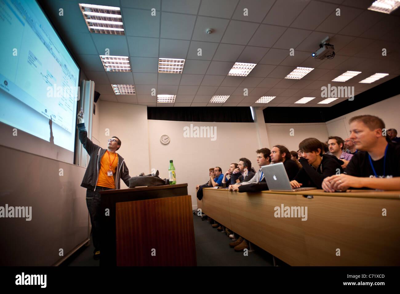 mobile app developers at the iOSDev UK app developer conference at Aberystwyth University, September 7 2011. UK - Stock Image