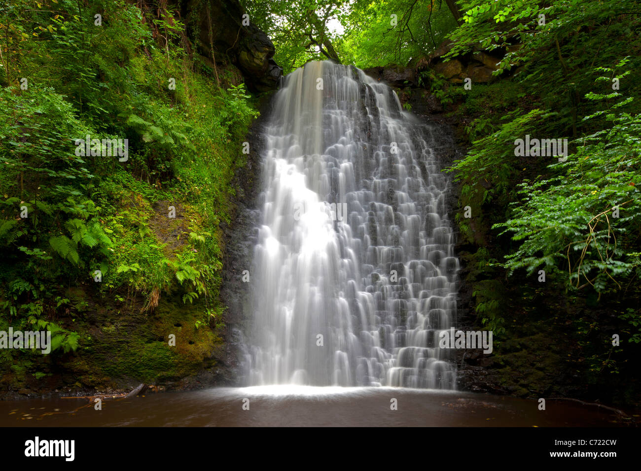 Falling Foss Waterfall, near Whitby, North Yorkshire - Stock Image