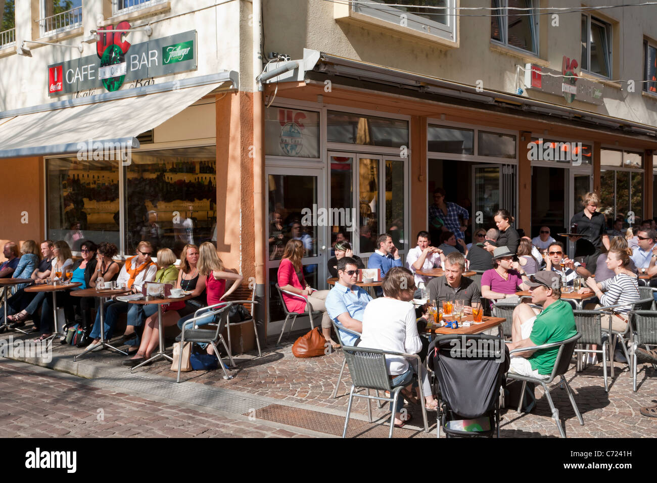 uc uni cafe cafe bar freiburg im breisgau baden wurttemberg stock photo 38770413 alamy. Black Bedroom Furniture Sets. Home Design Ideas
