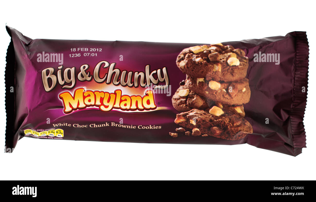 Packet of Maryland choc cookies milk & dark with expiry date at 18th February 2012 - Stock Image
