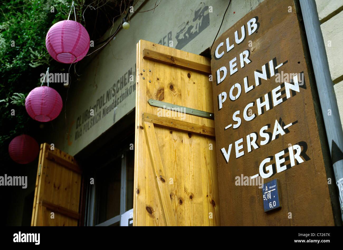 Club der Polnischen Versager (Club of Polish Failures) in Mitte district of Berlin. - Stock Image