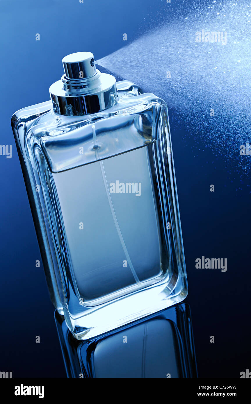 Perfume Bottle with Spray - Stock Image