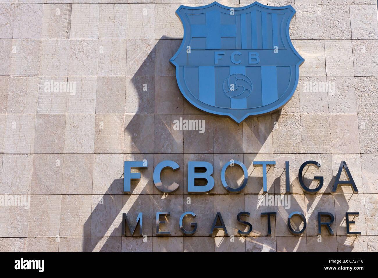 FC Barcelona club store logo - Stock Image