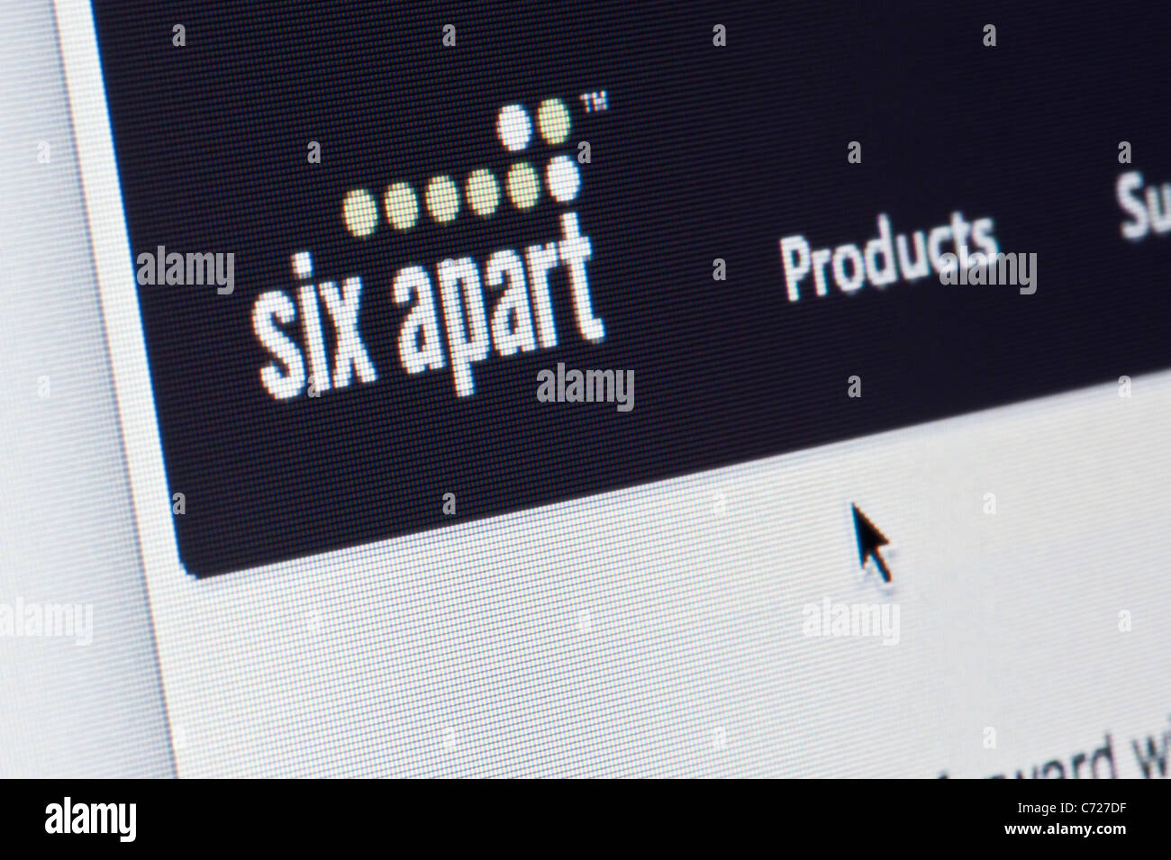 Close up of the Six Apart logo as seen on its website. (Editorial use only: print, TV, e-book and editorial - Stock Image