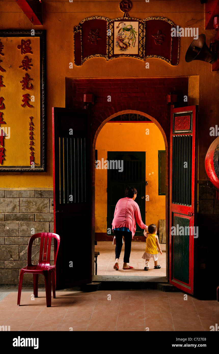 chinese temple in ho chi minh vietnam - Stock Image