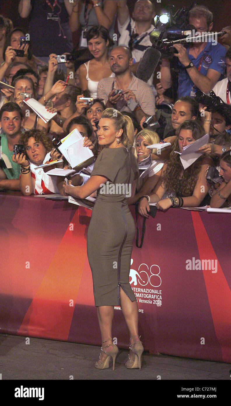 KATE WINSLET CARNAGE. PREMIERE. 68TH VENICE FILM FESTIVAL LIDO VENICE  ITALY 01 September 2011 - Stock Image