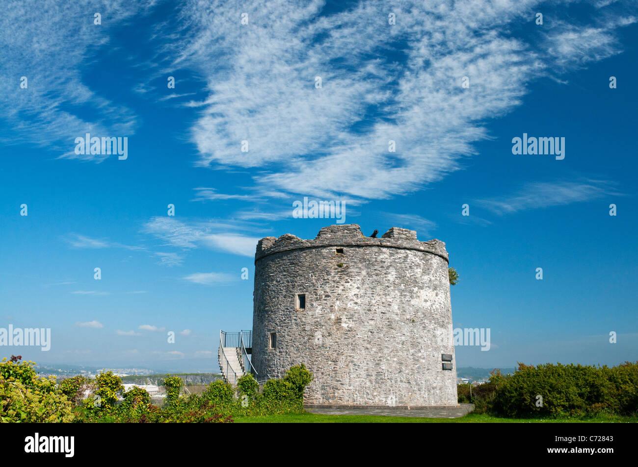 Seventeenth century artillery tower at Mount Batten, Plymouth, Devon UK Stock Photo
