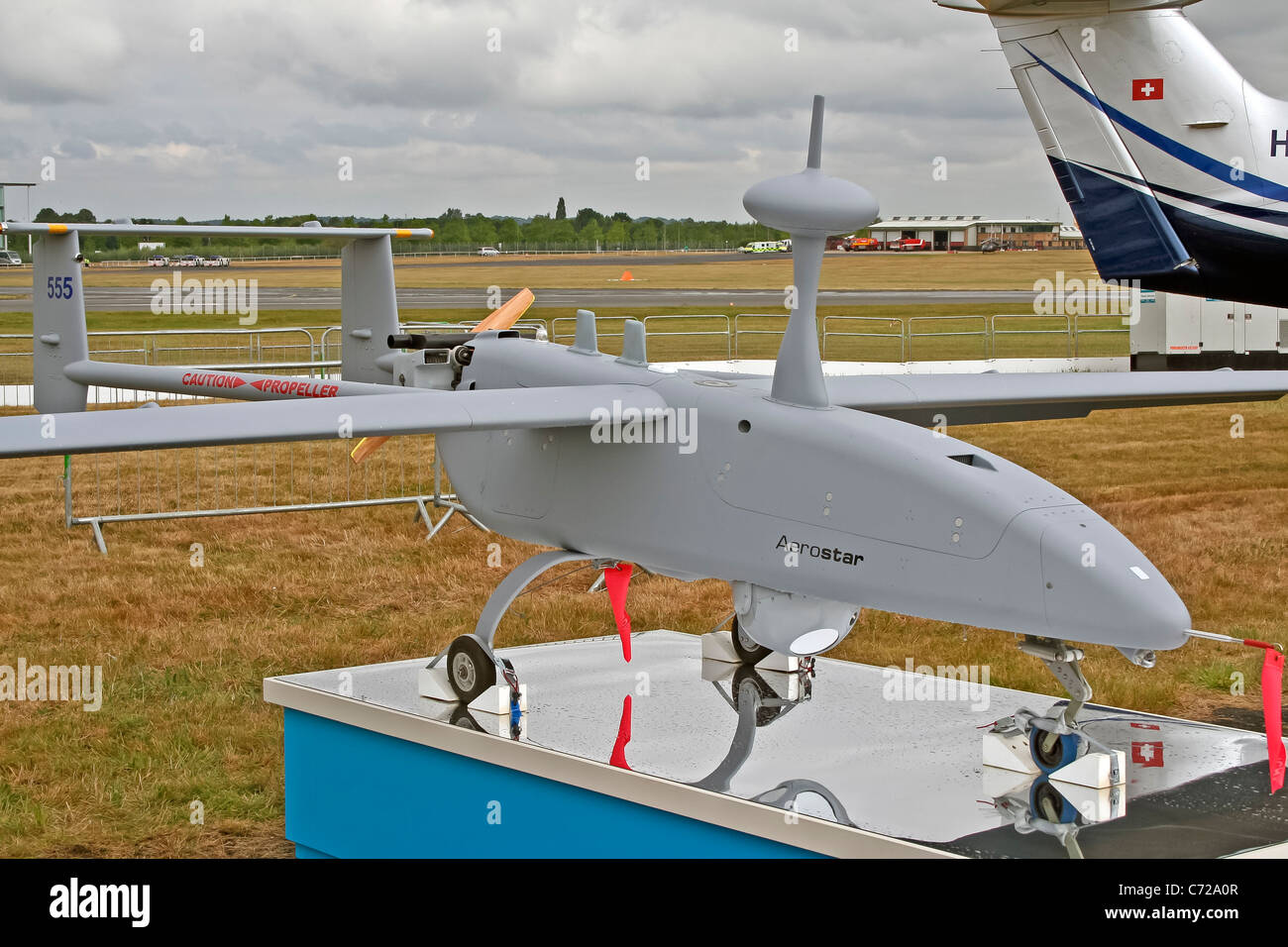 Aerostar Tactical Unmanned Air Vehicle System at the Farnborough International Airshow - Stock Image