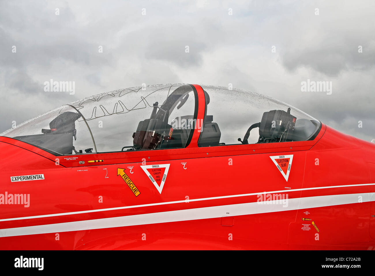 Close up of aircraft cockpit or nose - Stock Image