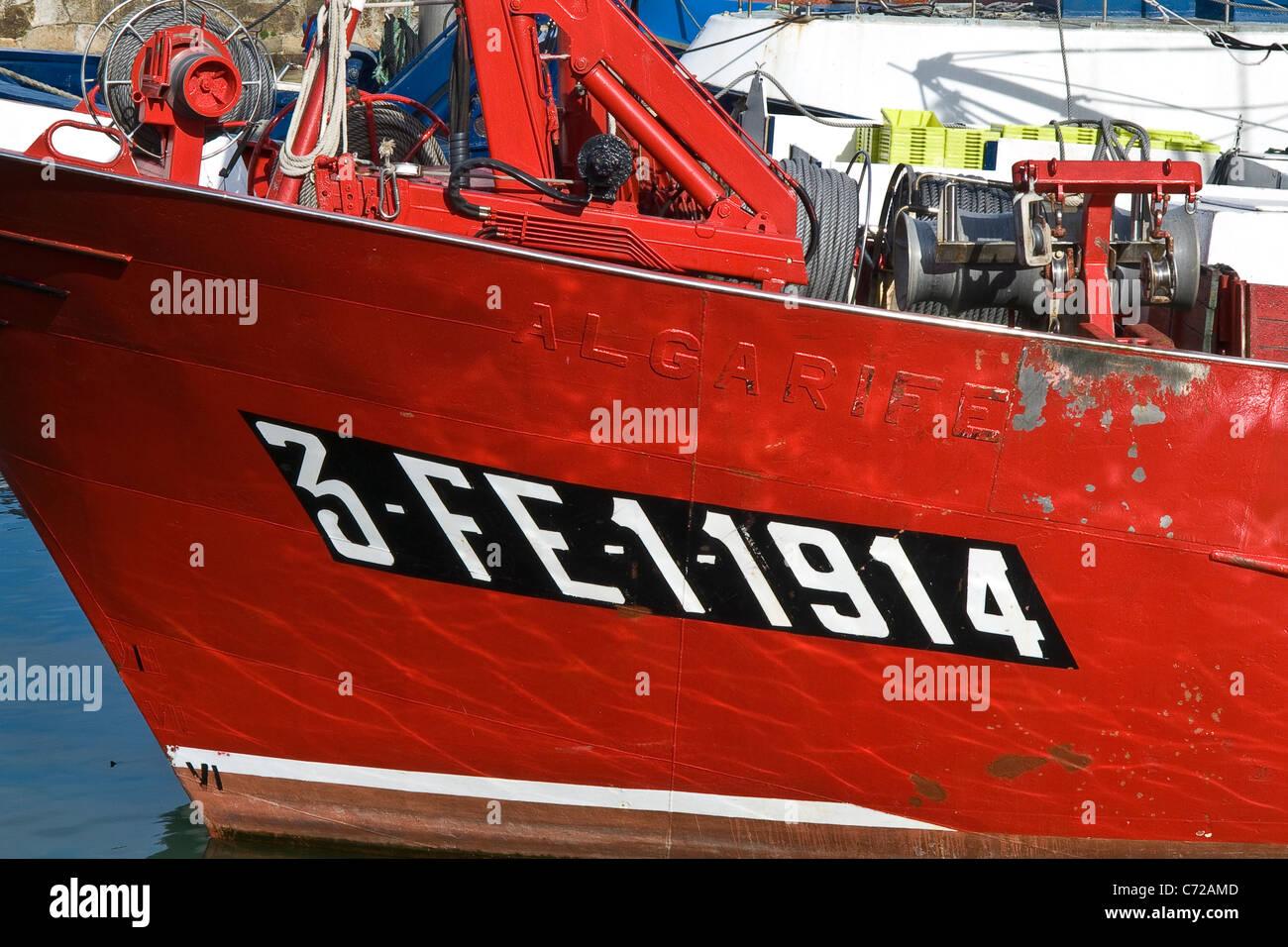 Fisher ship, Santurtzi, Bizkaia province, Basque country, Spain. - Stock Image