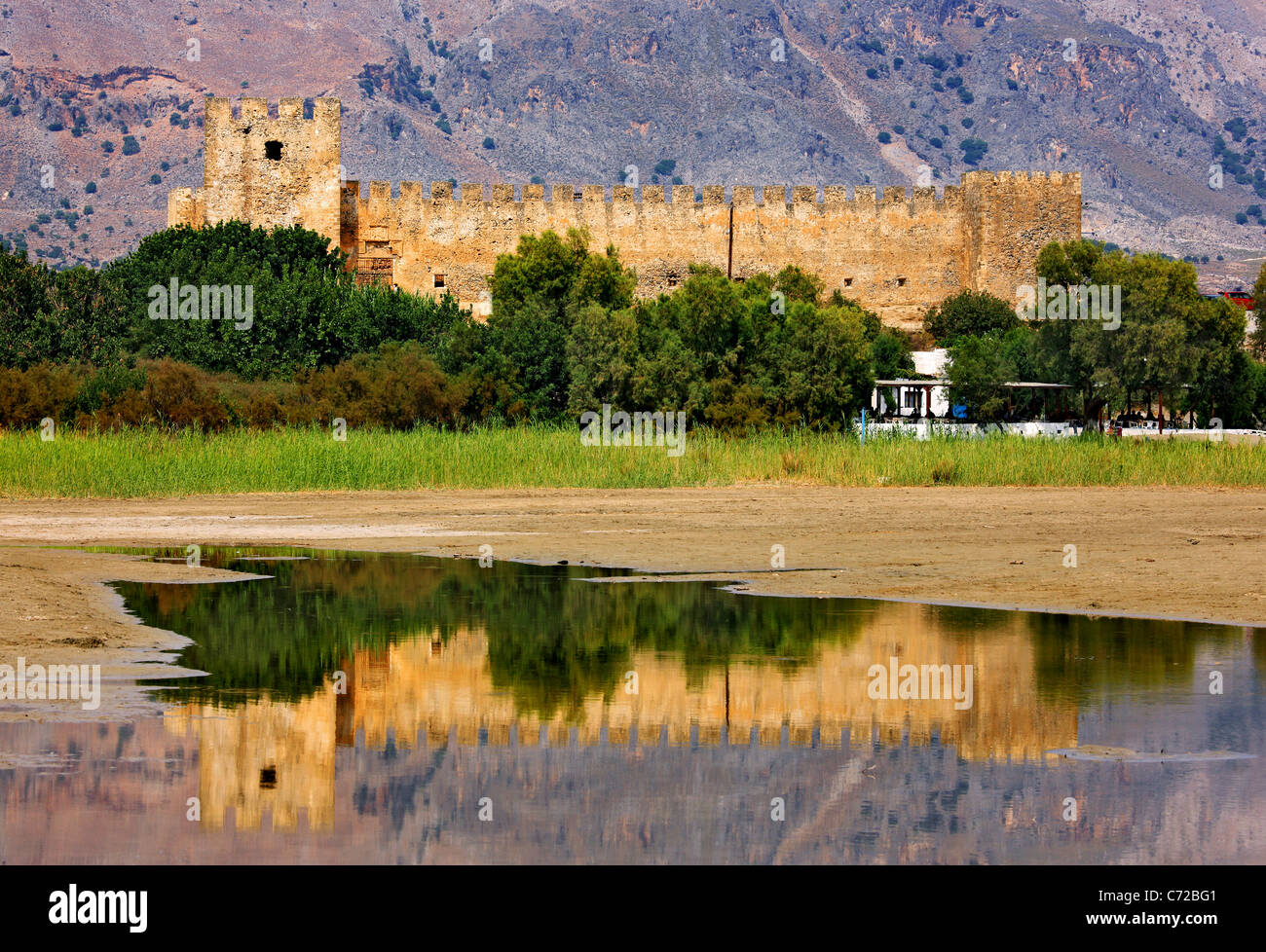 The Frangocastelo , in the East of the remote and 'wild' region of Sfakia, to the south of Chania Prefecture, - Stock Image