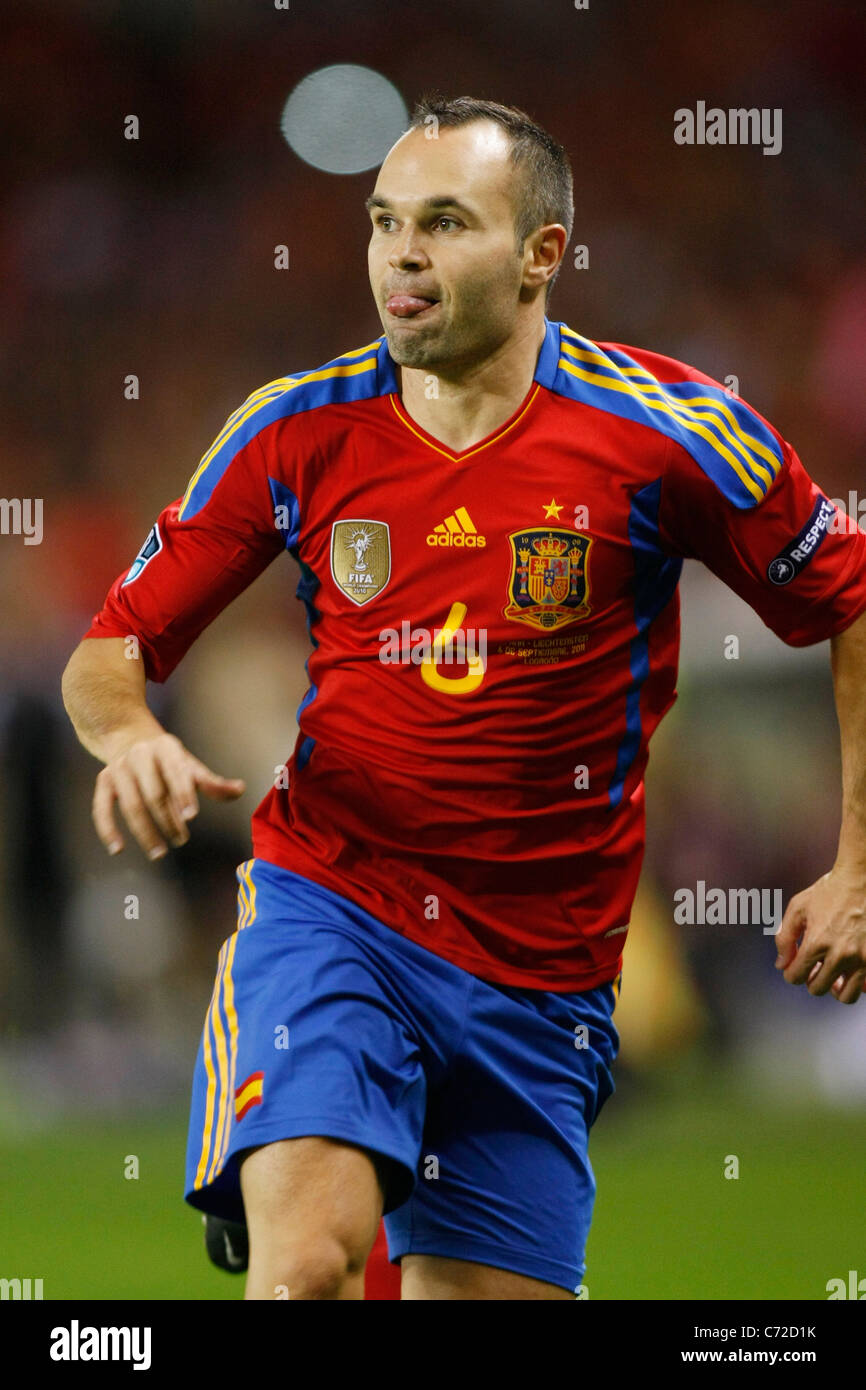 8985823f65458f Andres Iniesta (ESP) plays for the UEFA EURO 2012 Qualifying Group I match  between