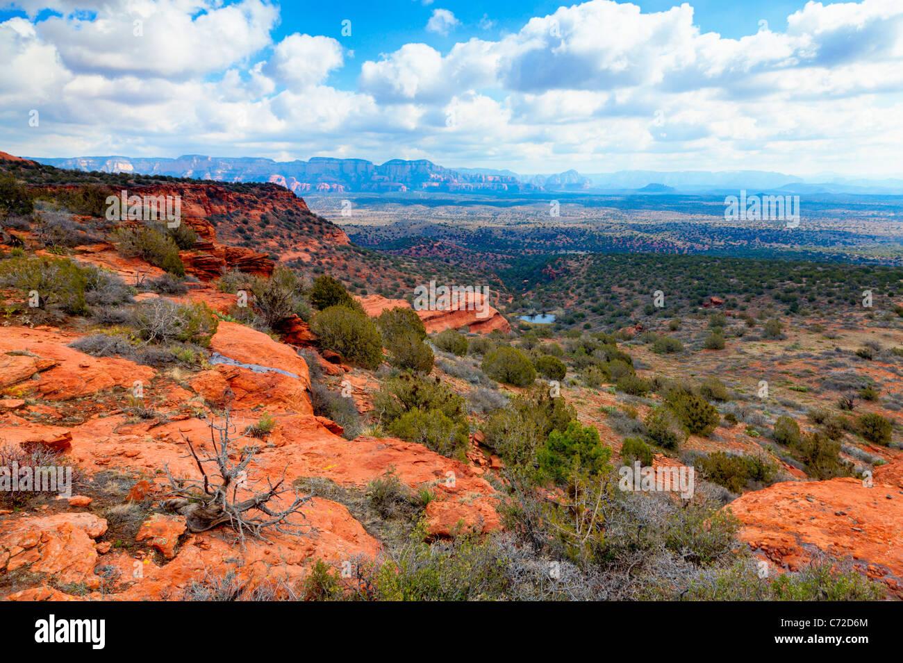 Desert landscape near Sedona Arizona - Stock Image