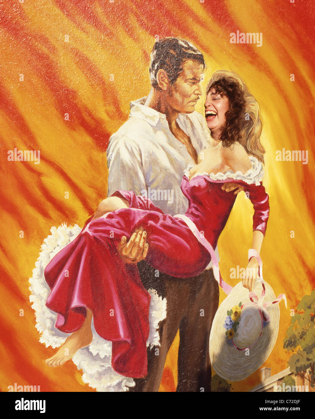 'Gone with the Wind' photo board, Universal Studios, Universal City, Los Angeles, California, United States - Stock Image