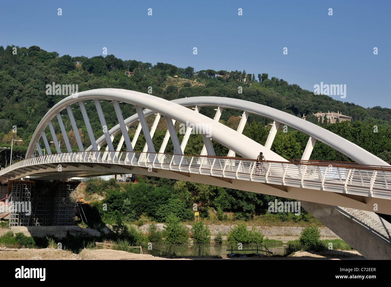 italy, rome, ponte della musica, music bridge, the new pedestrian bridge in rome - Stock Image