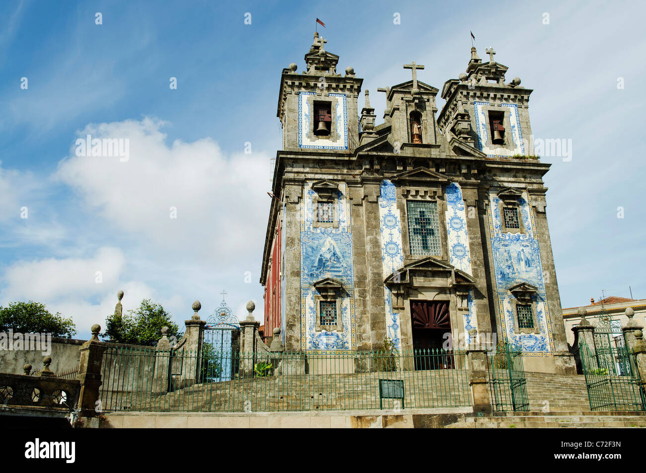 santo idelfonso church in porto portugal - Stock Image