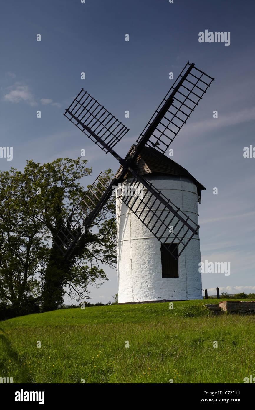 Ashton Windmill at Chapel Allerton, Somerset, England, UK - Stock Image