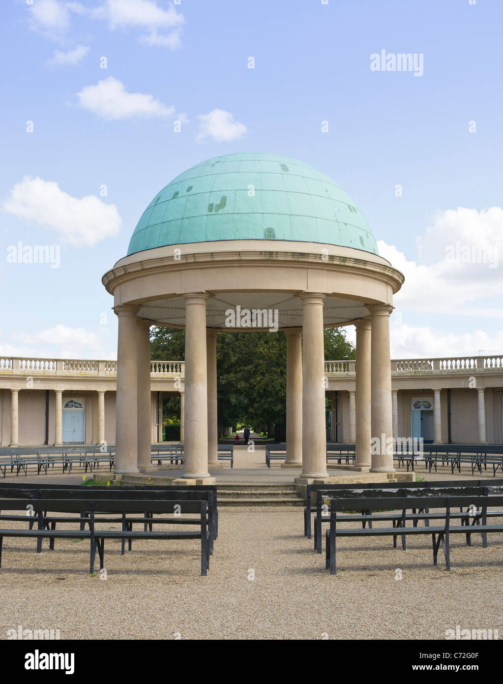Bandstand at Eaton Park Norwich, Norfolk. Built during the 1930's. - Stock Image