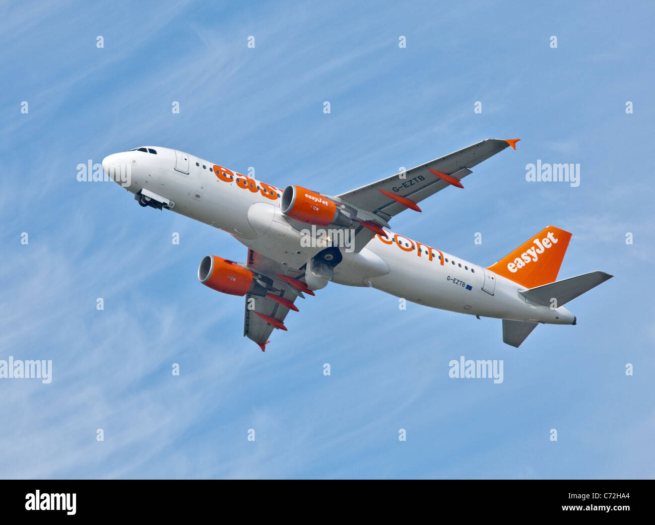EasyJet Airbus A320, Gatwick Airport, West Sussex, England - Stock Image