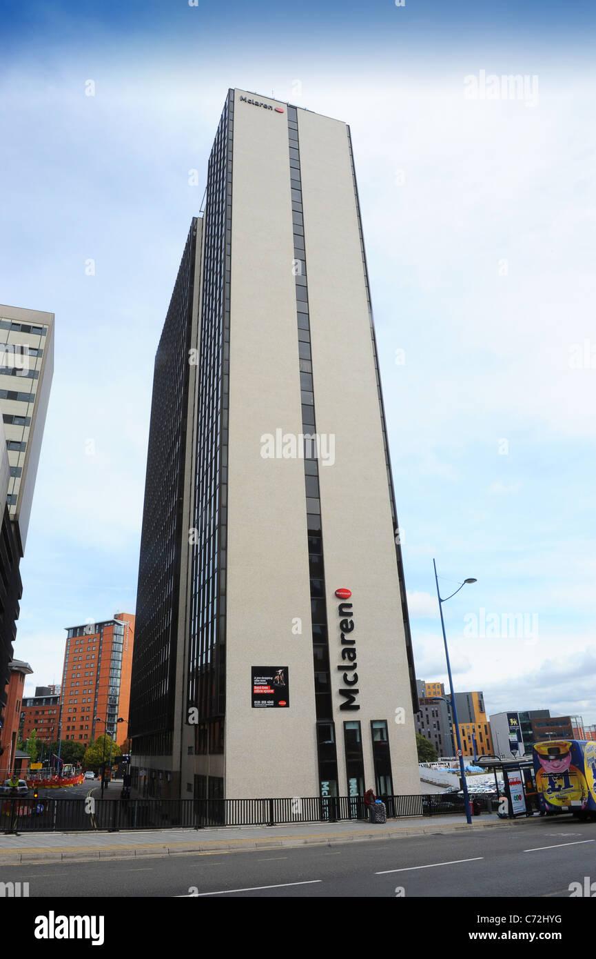 The Bruntwood McLaren Office Building In Birmingham's City Centre England West Midlands Uk - Stock Image
