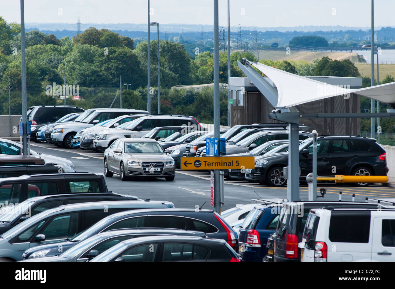 Heathrow airport car park stock photos heathrow airport car park terminal 5 car parking heathrow airport london uk stock image m4hsunfo