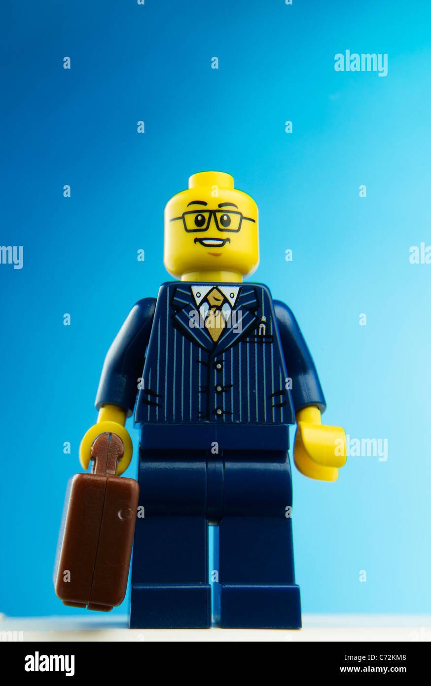Lego businessman - Stock Image