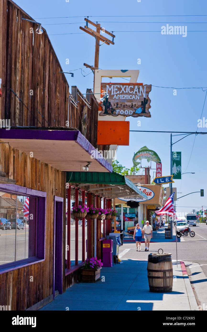 Mexican American food store on Main Street, Lone Pine in ...