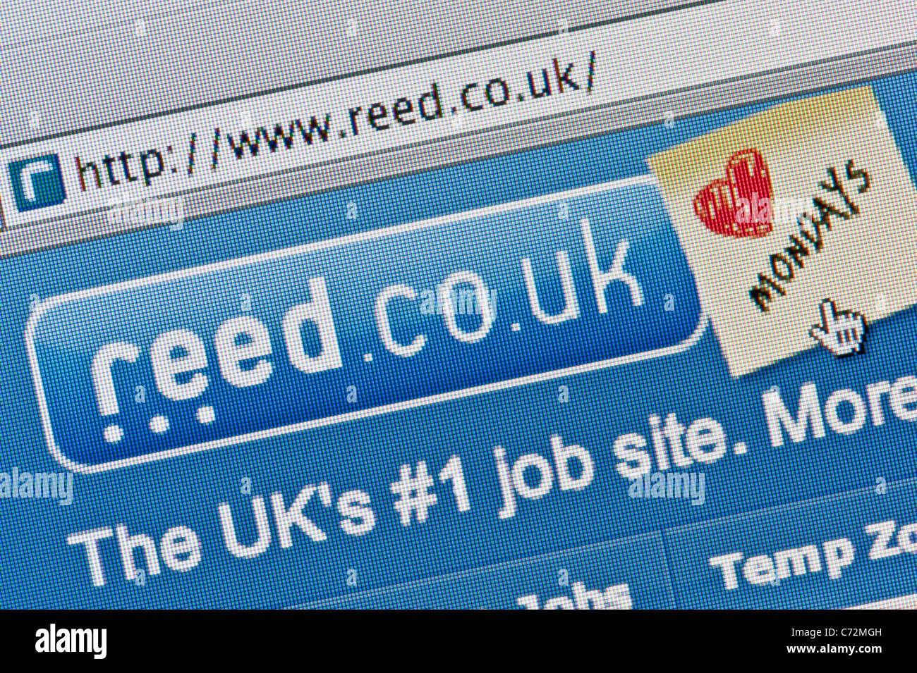 Close up of the Reed logo as seen on its website. (Editorial use only: ­print, TV, e-book and editorial website). - Stock Image