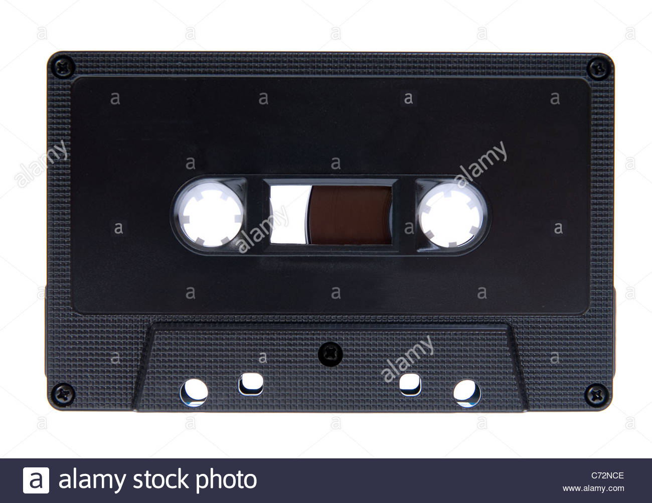 Isolated compact cassette - music tapes - Stock Image