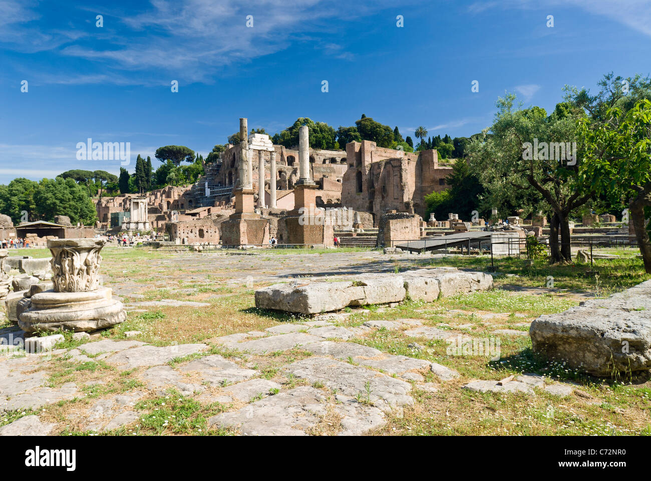 Rome, Italy. The Main Square in the Roman Forum. - Stock Image