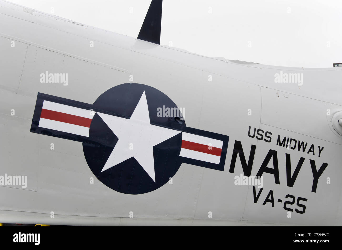 US Navy logo - Stock Image