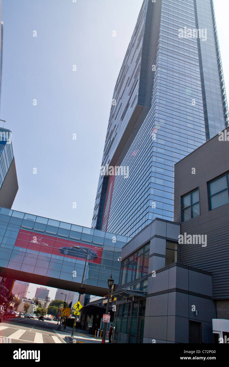 The Marriott Hotel And Ritz Carlton Residences In Downtown Los Stock