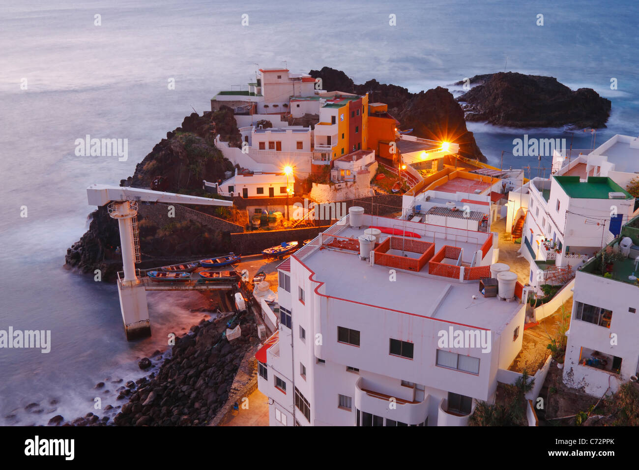 El Prix village on the north coast of Tenerife, Canary Islands, Spain - Stock Image