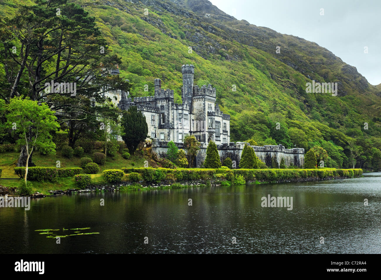 Kylemore Abbey, Connemara, County Galway, Republic of Ireland Stock Photo