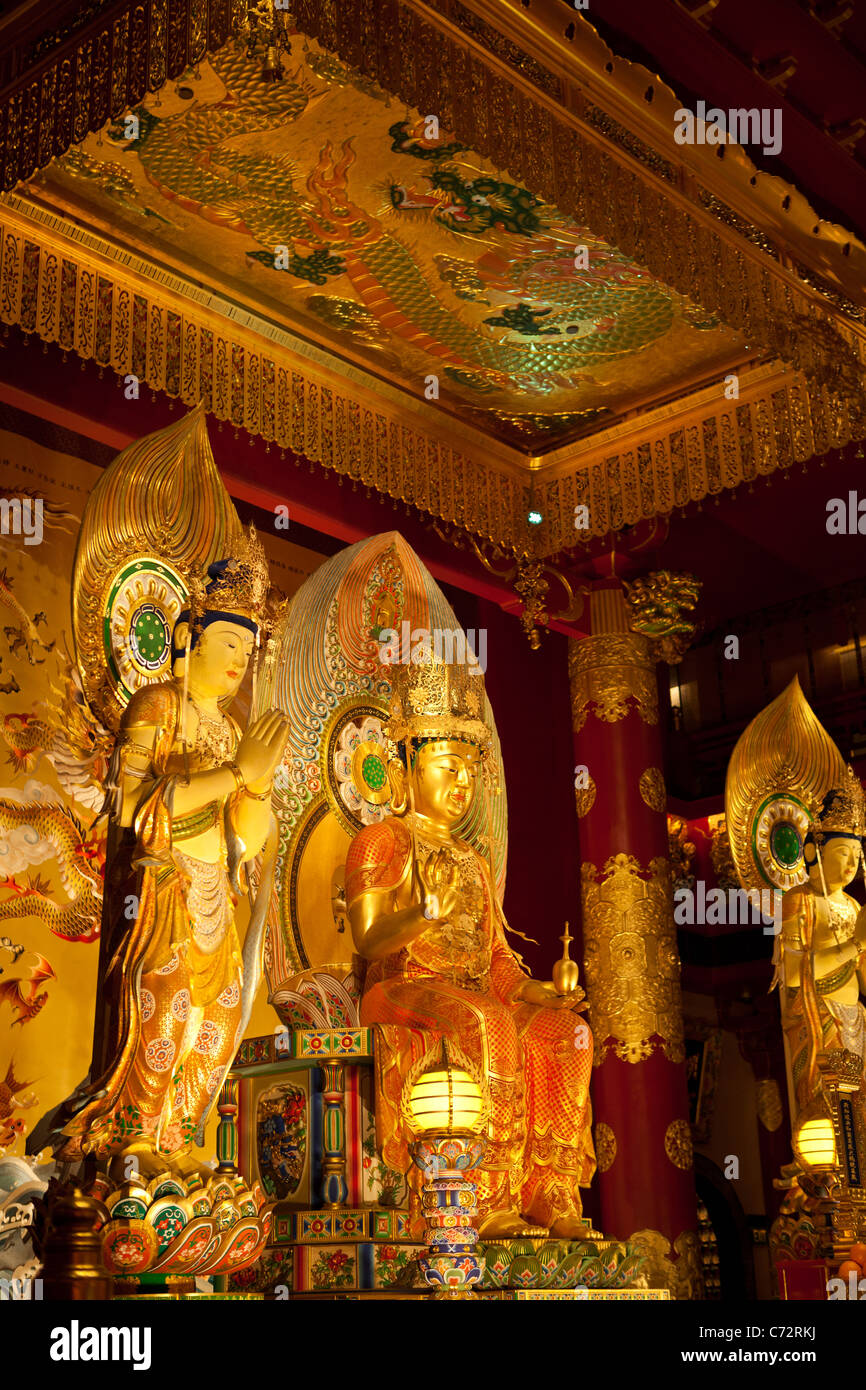 The Buddha Tooth Relic Temple and Museum in Singapore built to house the tooth relic of Buddha. - Stock Image