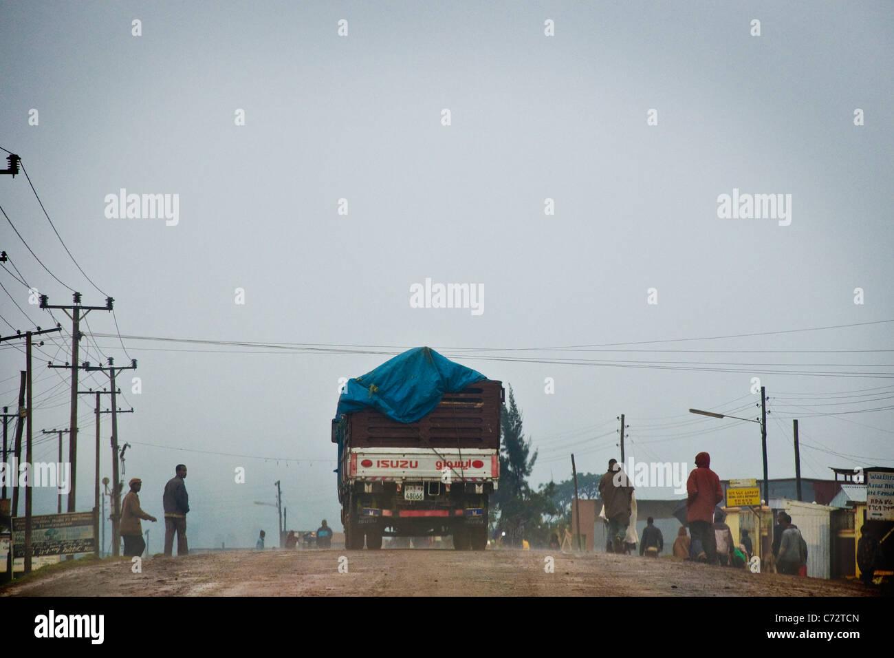 On the road, Surrounding of Awasa, Ethiopia - Stock Image