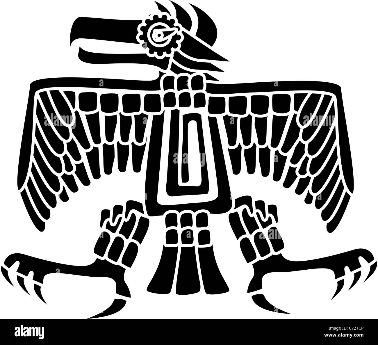 Aztec Or Mayan Eagle Deity A Symbol Of Strength Patience And Stock