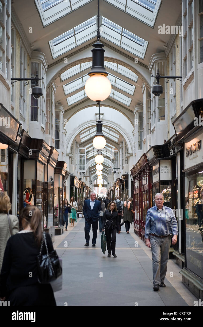Expensive West End shops in Burlington Arcade just off Piccadilly, London, UK - Stock Image
