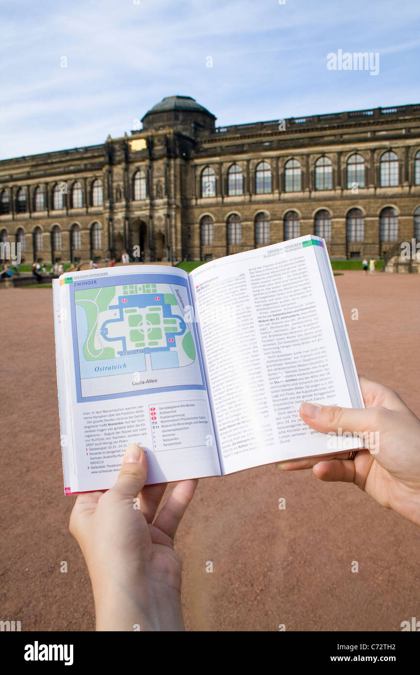 Map Of Germany Showing Dresden.Guidebook Showing Map Of The Zwinger Palace Dresden Saxony