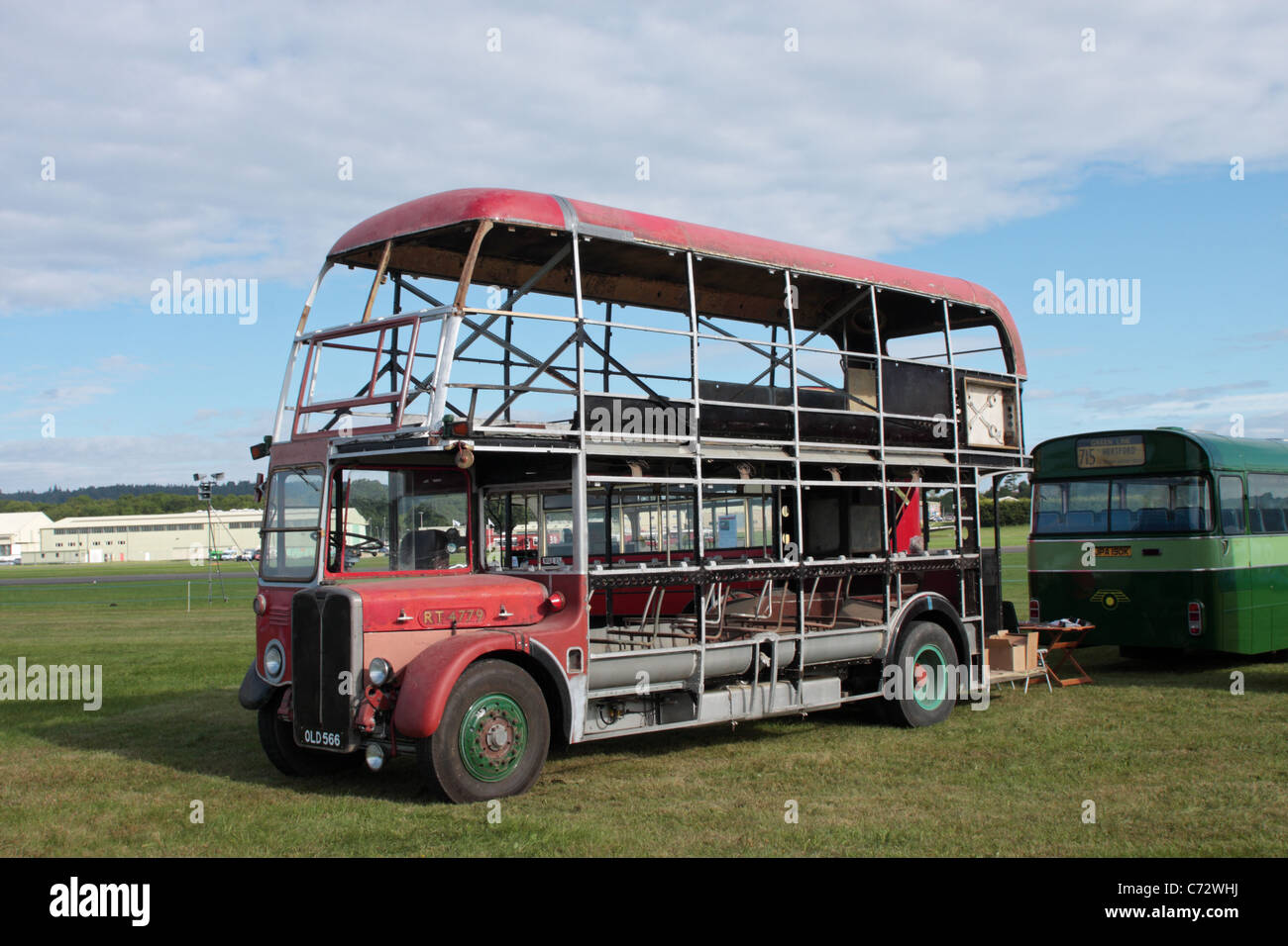 An AEC RT under restoration on display at the Wings and Wheels Show Dunsfold Aerodrome Surrey UK - Stock Image