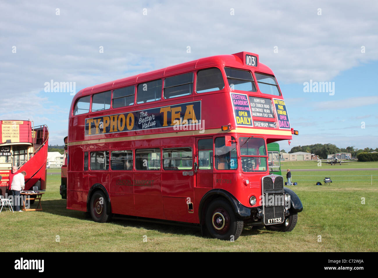 AEC RT KYY 532 Double Deck Bus on display at the Wings and Wheels Show Dunsfold Aerodrome Surrey UK 2011 - Stock Image