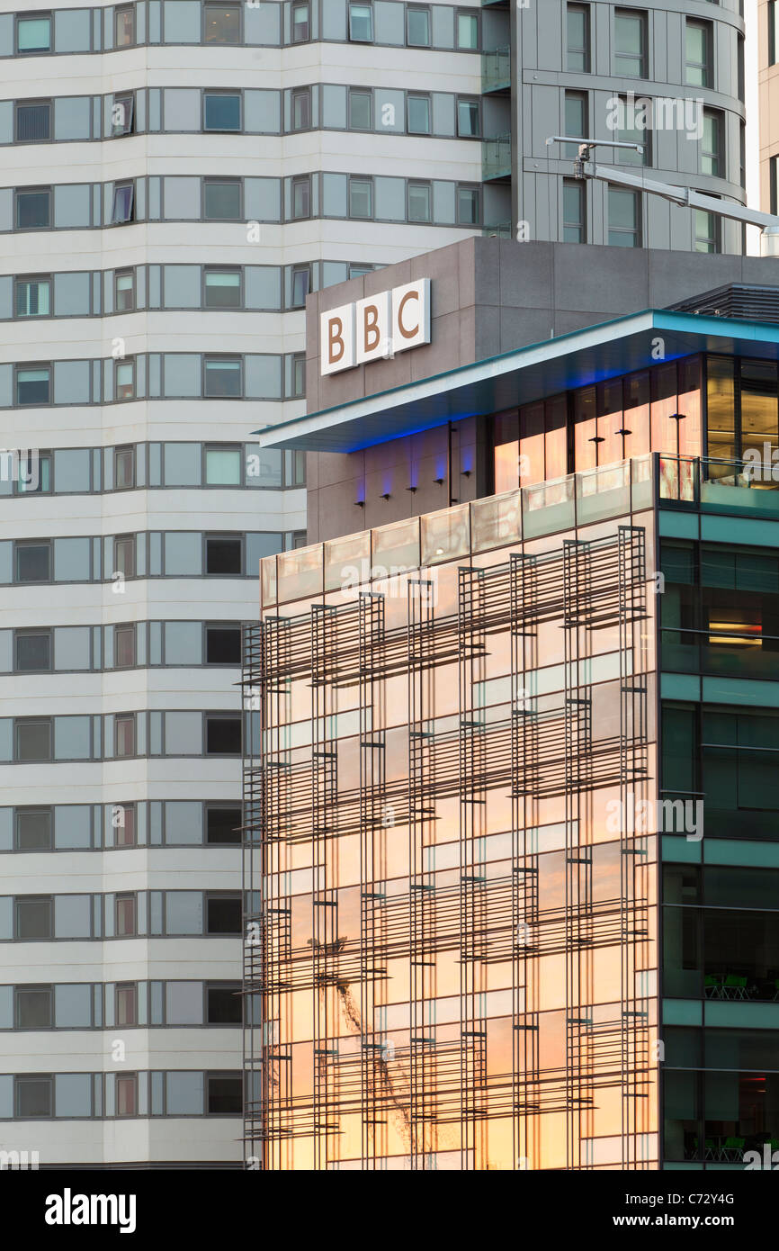 BBC Manchester at MediaCityUK, Salford, Manchester, England, UK - Stock Image