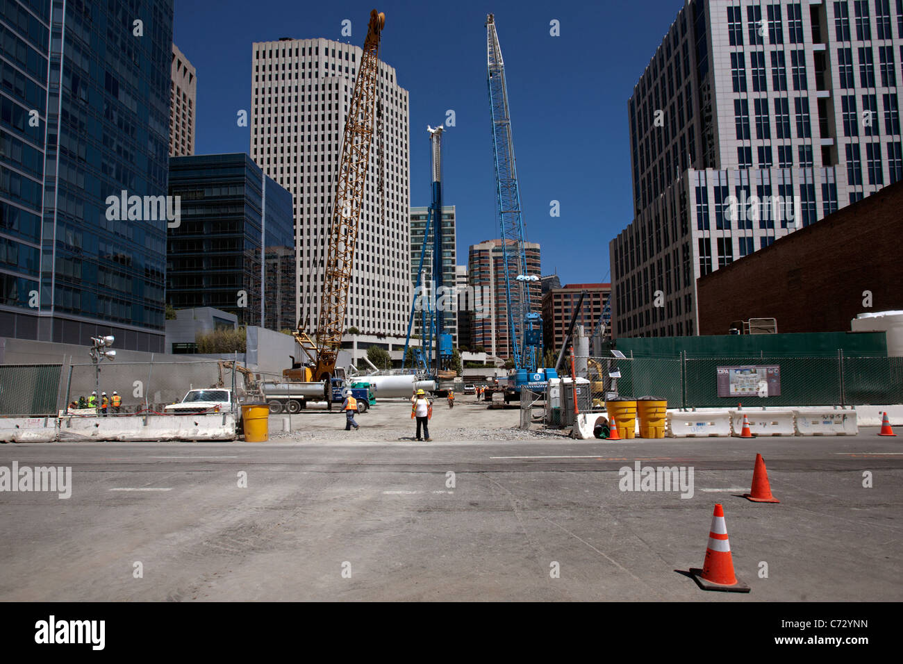 new transport terminal being built in san francisco - Stock Image