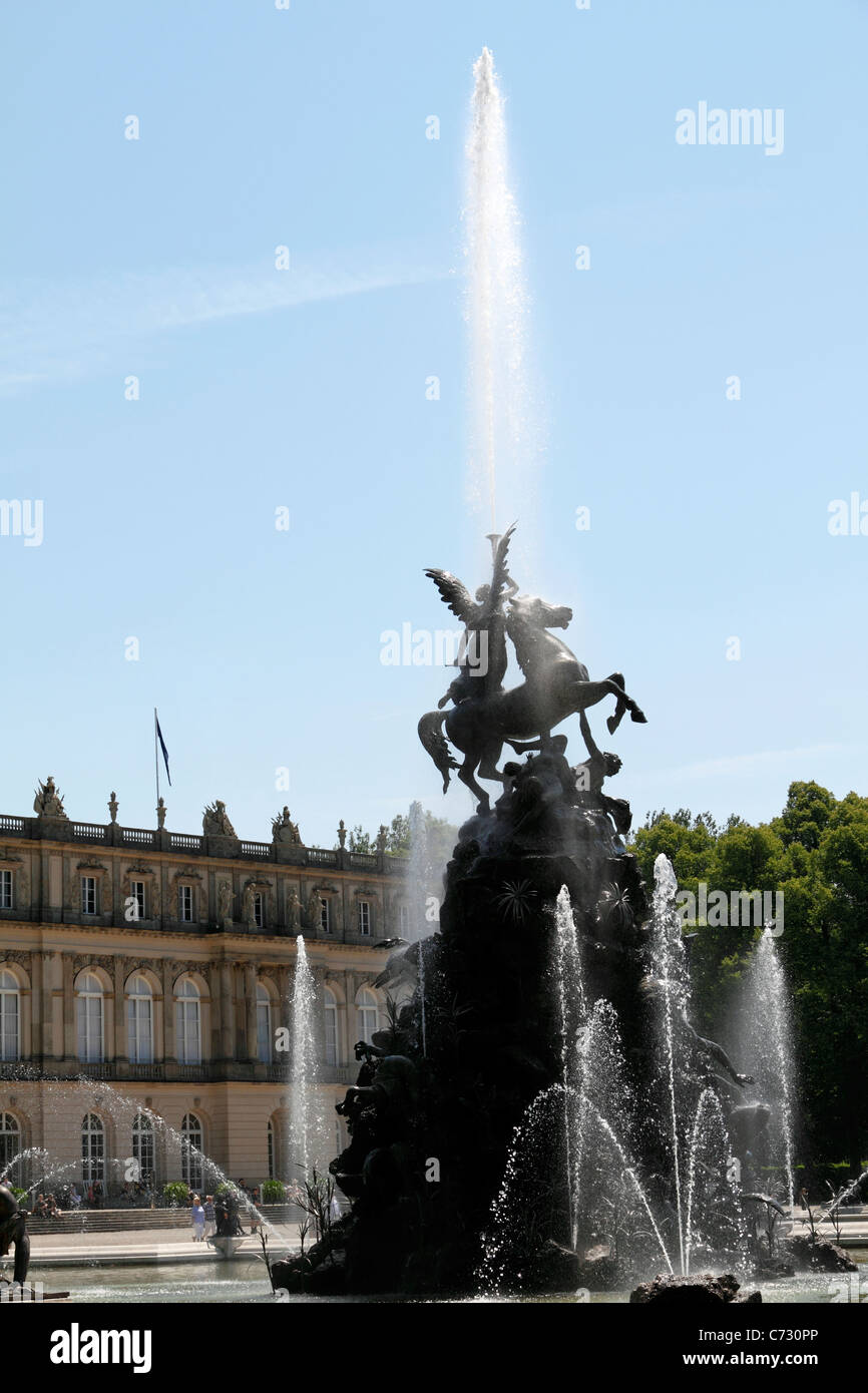 Latona Fountain, Herrenchiemsee Herreninsel Upper Bavaria Germany - Stock Image